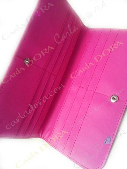 porte carte femme original glossy vernis rose fushia paillete, porte carte bleue pour femme a paillettes