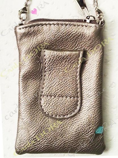 etui telephone portable etoile strass mordore clair cuir vieilli metalise