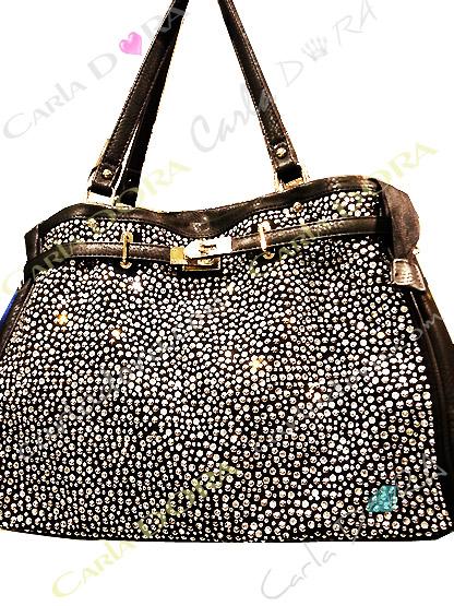 sac main femme cabas noir strass blancs sac shopping pluie de strass sac porte epaule sac a main femme