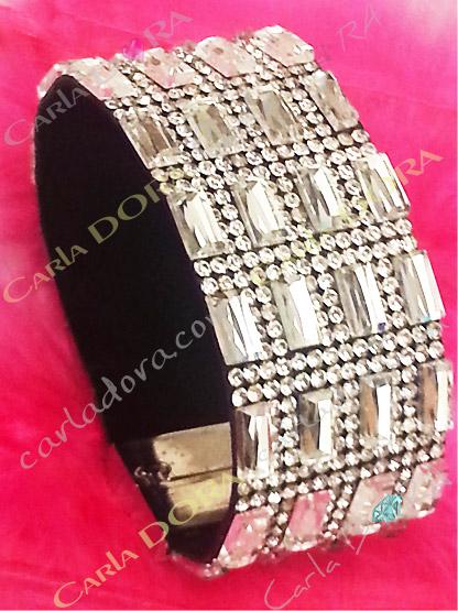bracelet strass de soiree aimante, mode bracelets bijoux strass tendance fermeture aimantee