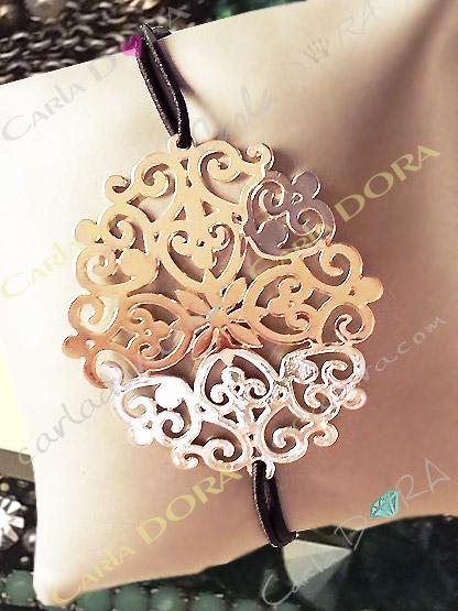bracelet arabesque argent bijoux fantaisie femme