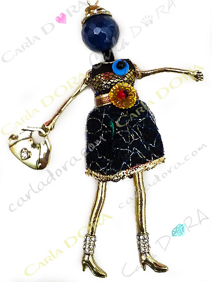 pendentif charms poupee articulee mannequin de mode robe , pendentif fantaisie sautoir tendance poupee mode