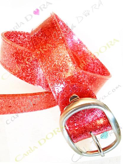 ceinture femme transparente corail plastique souple paillettes, ceinture tendance femme a la mode