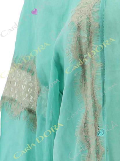 tunique hippie chic tendance bleu turquoise  dentelle grege, tunique fashion ibiza saint-tropez
