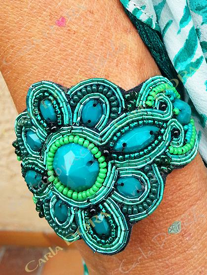 bracelet bresilien hippie chic vert bijoux fantaisie femme