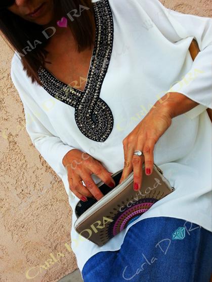 petit sac a main portefeuille cercle colore et graphique, portefeuille sac bandouliere