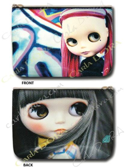 pochette poupee street art graffiti tag, petite pochette femme street art tag graffiti
