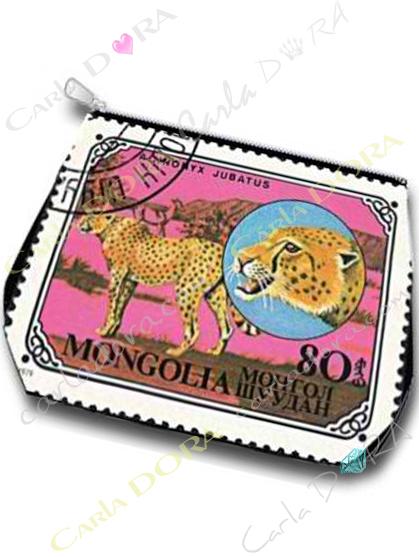 trousse vintage animaux de la brousse guepard , trousse animal brousse guepard