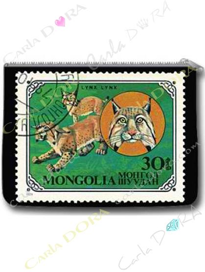 porte-monnaie tendance timbre ancien lion, porte-monnaie femme original