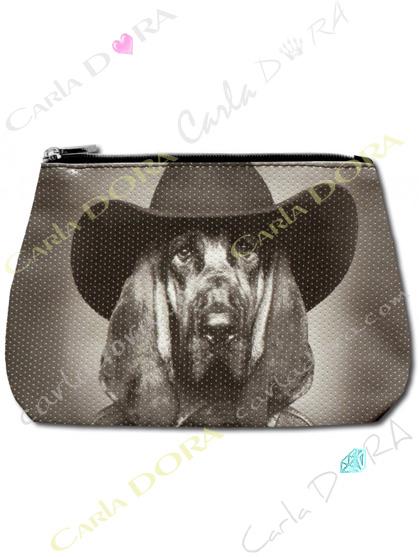 trousse de beaute femme chien chapeau noir