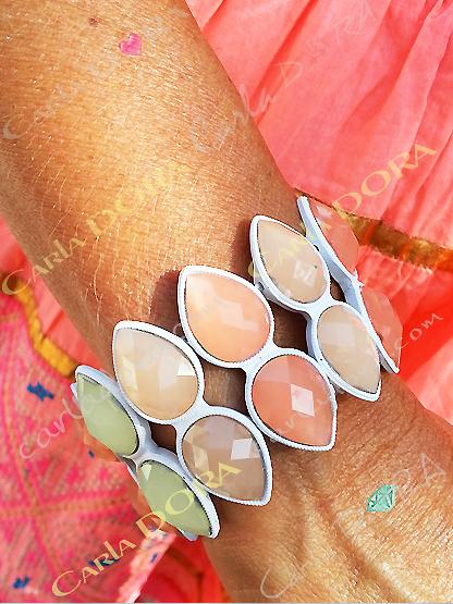 bracelet elastique pastel cabochons