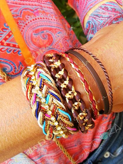 bracelet bresilien porte bonheur hippie chic tresse fermeture aimantee, mode bracelets bijoux bresiliens tendance