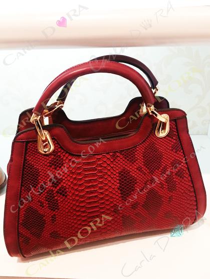 sac a main serpent rouge pour femme tendance, sac main facon peau de serpent
