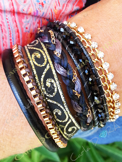 bracelet bresilien multi rangs fermeture aimantee, mode bracelets bijoux bresiliens tendance