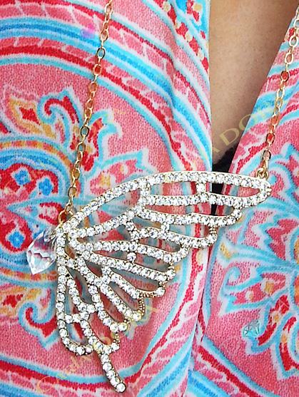 pendentif papillon strass bijoux fantaisie femme