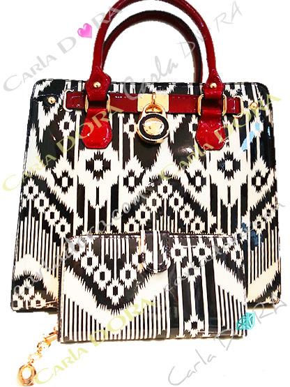 sac a main rouge et noir pour femme tendance et chic, sac a main vernis noir et rouge graphique