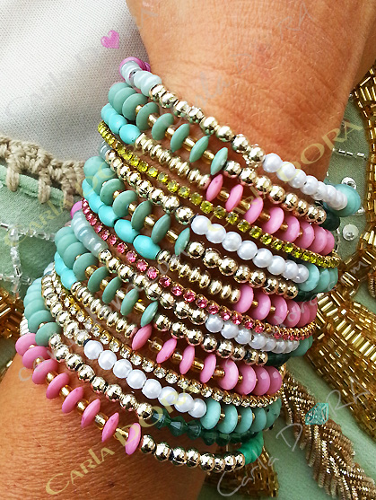 bracelet femme hippie chic tourbillon turquoise et parme,bracelet tendance femme