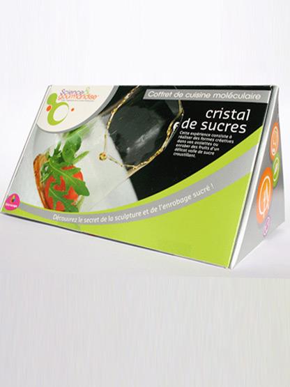 kit cuisine moleculaire facile cristal de sucre pour desserts - recette simple accessible aux debutants.