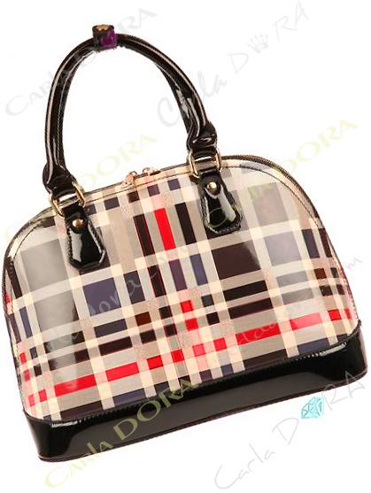 sac main tartan motif noir beige, sac a main femme style ecossais couleur noir et beige style tartan