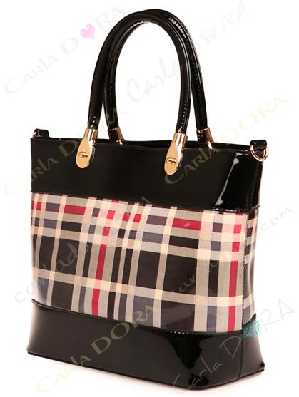 sac a main motif ecossais beige noir style tartan, sac main motif tartan