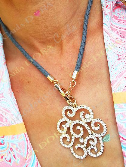 collier fantaisie collier arabesque or, bijou fantaisie femme