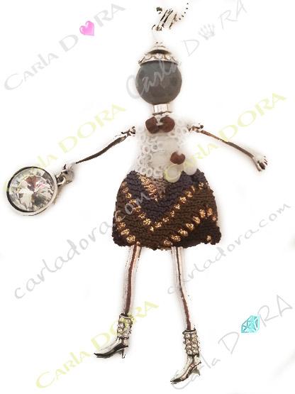 bijou collier sautoir poupee chic, collier sautoir poupee a la mode bijoux fantaisie femme