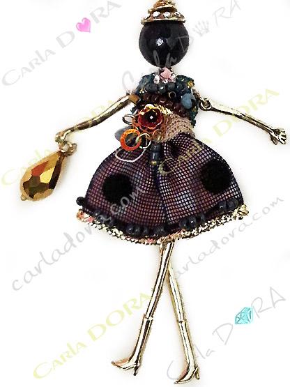 bijou collier sautoir poupee chic, collier sautoir poupee a la mode