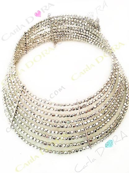 collier ras de cou rigide metal martele argent, collier ras du cou femme ajustable