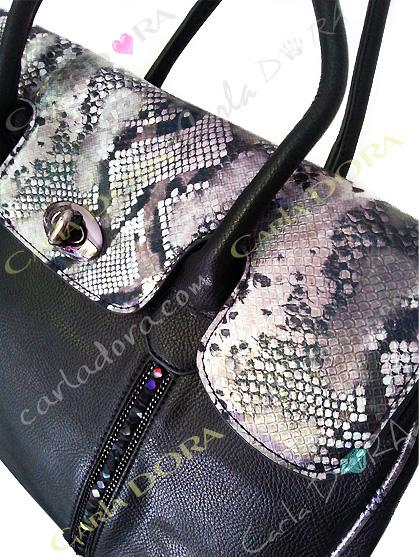 sac main femme cabas shopping python irise et noir strass noir sac porte epaule sac a main femme
