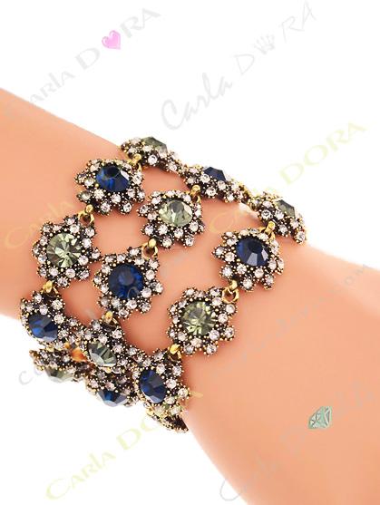 bracelet cristal 3 rangs bijoux fantaisie femme