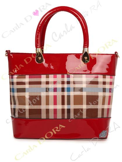 sac a main motif ecossais beige rouge style tartan, sac main motif tartan