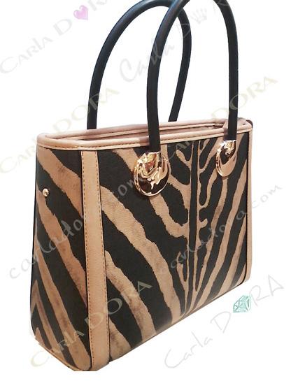 sac a main femme zebre noir et taupe porte main