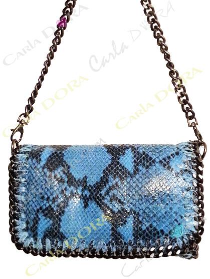 petit sac imprime serpent python cuir veritable et chaines