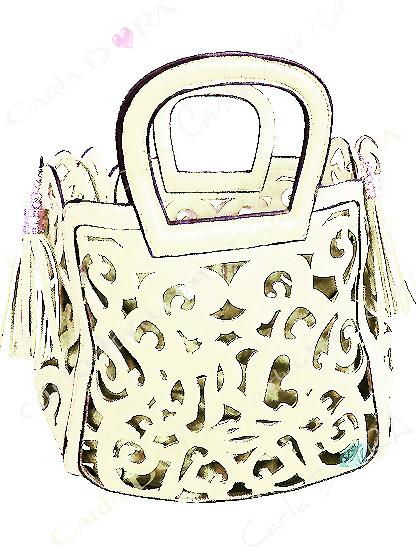 sac femme ajoure couleur ivoire pompon, sac couleur ivoire femme sac a main ete arabesque ajoure