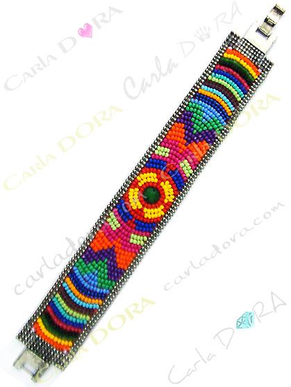 bracelet bresilien multicolore perles de rocaille, bijoux bracelet fantaisie femme
