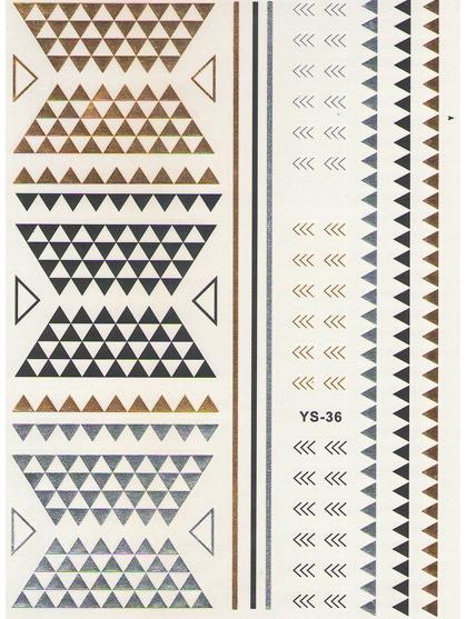 kit tatoo ephemere bijou de peau petits triangles