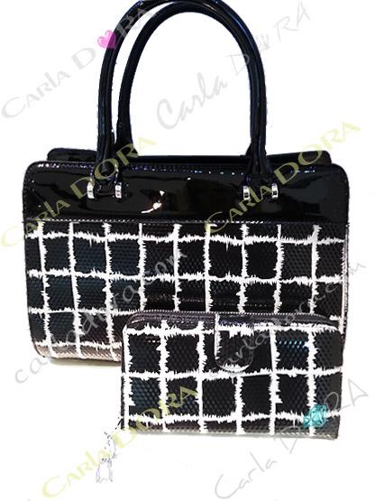 sac femme tendance noir et blanc brillant chic, sac pour femme tendance blanc et noir