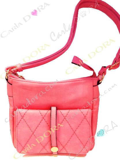 sac femme tendance bandouliere corail veloutee pour femme chic, sac porte bandouliere rose saumon
