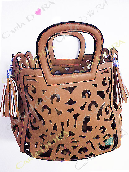 sac femme tendance ete taupe camel porte main, sac a main femmme couleur camel taupe arabesque ajoure