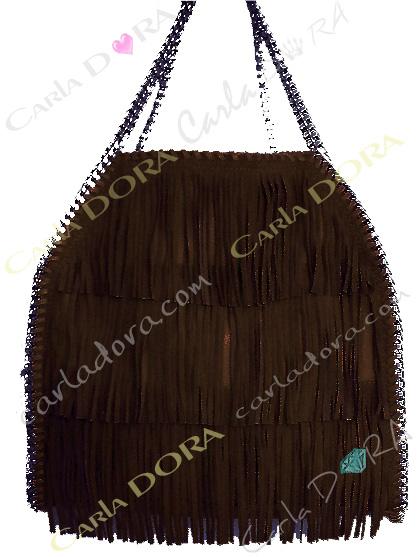 sac main femme brun chocolat daim a franges, sac femme hippie chic porte mains brun chocolat