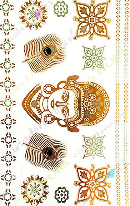 bijou de peau deesse hindou or, bijou de peau divinite
