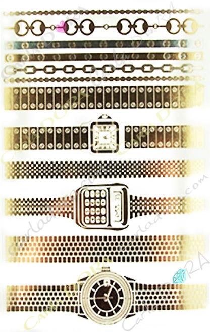 bijou peau or bracelet montre femme , bijou de peau dore montre femme