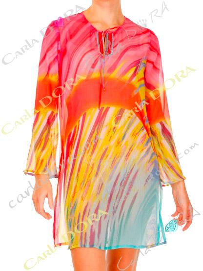 tunique femme fluide flamboyante fashion, top tunique femme fashion plage mode