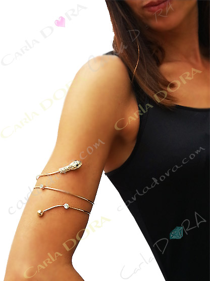 bracelet femme brassard serpent metal or bijoux fantaisie femme
