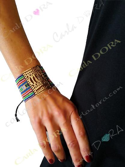 bracelet fantaisie tendance femme hippy chic, bijou fantaisie bracelet bresilien tendance