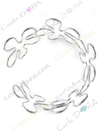 bracelet femme brassard fleur metal argent bijoux fantaisie femme