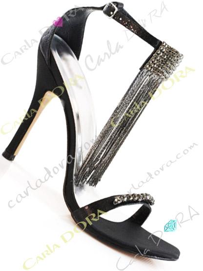 sandales de soiree noires strass,chaussures de soiree noires a strass