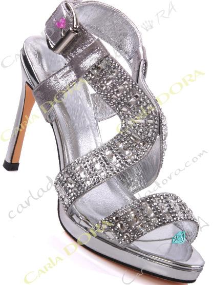 chaussure femme de soiree argent bijoux, sandales de soiree strass