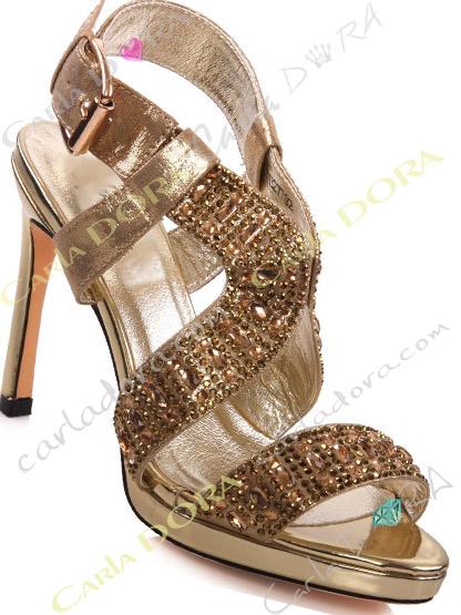 chaussure femme de soiree dore bijoux, sandales de soiree strass