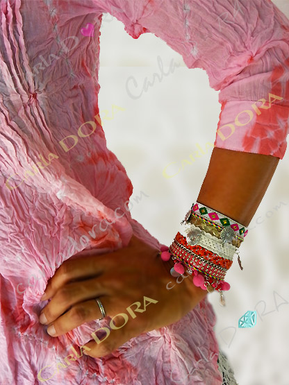 bracelet fantaisie gypsy rose pompons